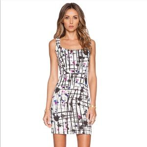 Milly splatter print cut-out dress